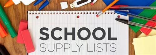 School Supplies Lists
