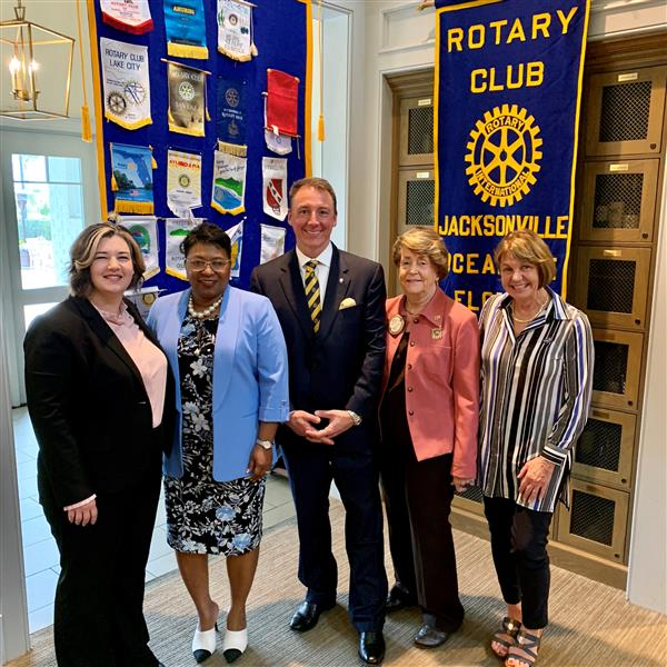 Board Member Andersen and Superintendent Greene with Oceanside Rotary Club
