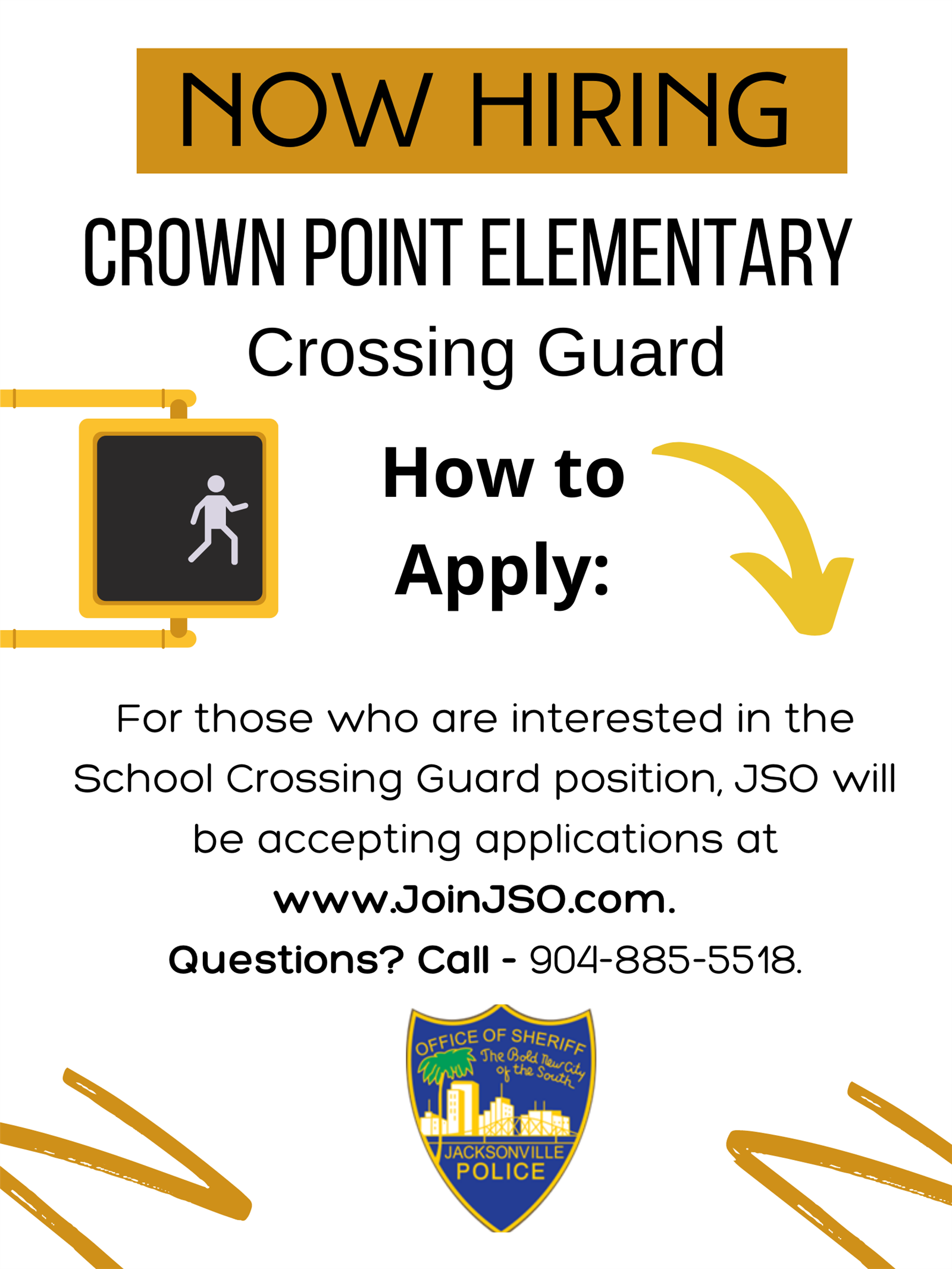 Now Hiring: Crown Point Crossing Guard