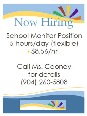 NOW HIRING: School Monitor Position Available