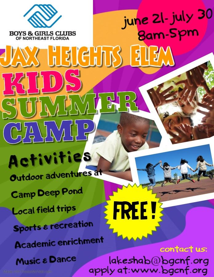 Sign up to join our summer program with the Boys & Girls Club!