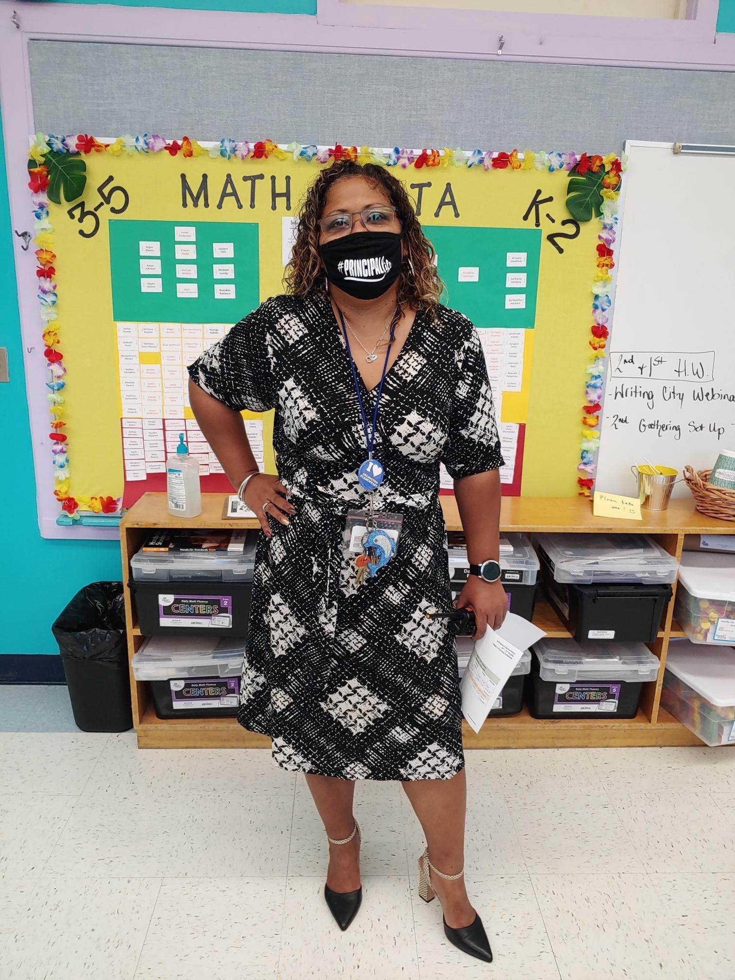 Principal Findlay at Arlington Elementary
