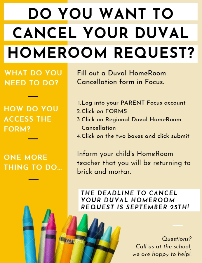 Duval HomeRoom Cancel Enrollment