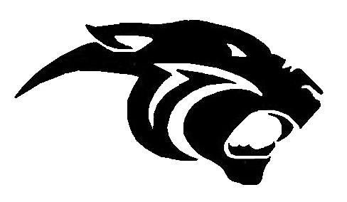 graphic logo of panther head in black