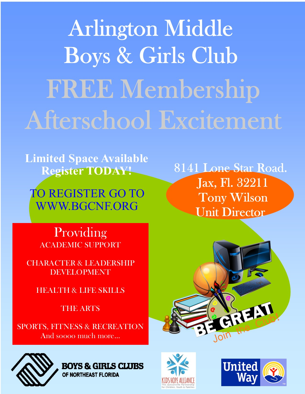 AFTER SCHOOL PROGRAM - BOYS & GIRLS CLUB