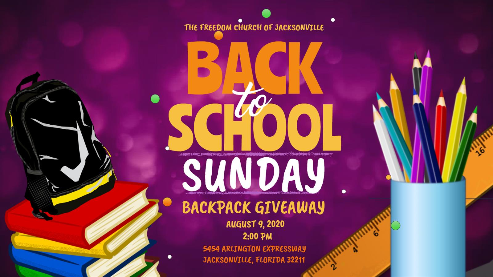 BACK-TO-SCHOOL BACKPACK GIVEAWAY