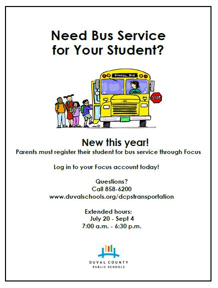 Register Your Child for Bus Transportation