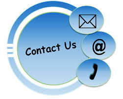 Contact us in blue