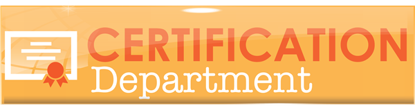 Certification Department Header