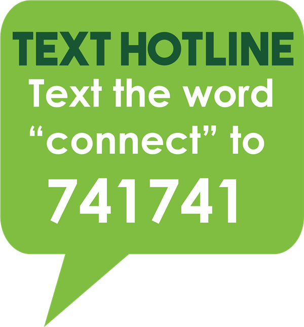 Text the word connect to  741741
