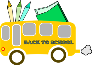 School Bus/ School Supply Clipart
