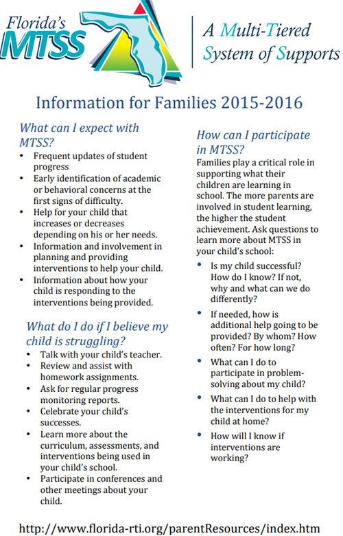 MTSS Information for Families Continued