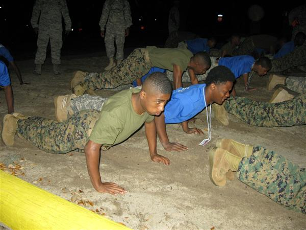 MCJROTC Cadets have physical training (PT) once per week.