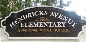 Hendricks Avenue Elementary Sign