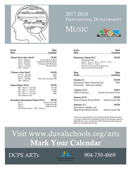 Visual And Performing Arts Music Professional Development - Dcps lesson plan template