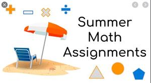 Summer math image