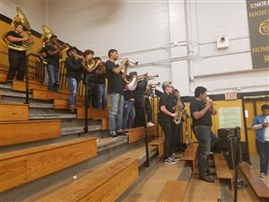 band at winter pep rally