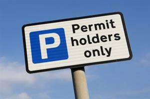 Parking Permit Holders Sign