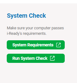 iReady System Check