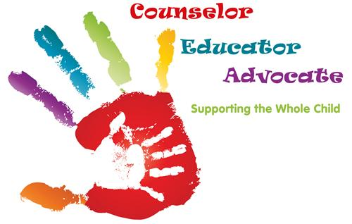 Hand print that reads Counselor, Educator & Advocate